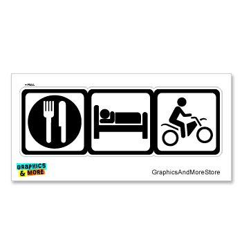 Amazon Eat Sleep Dirt Pit Bike Off Road Sign Symbols Window