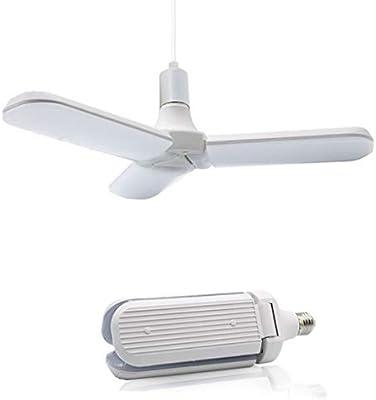 FBGood - Bombilla LED plegable con forma de ventilador, bombilla ...