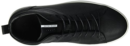 Baskets 8 Black Noir Ecco Noir Hautes Soft Men's Homme taHwSqU