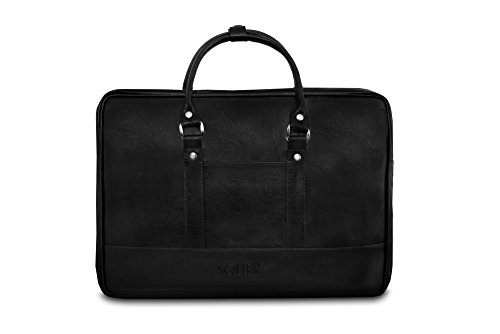 Solier para hombre piel bandolera para portátil Macbook Premium bolsa S04 marrón negro