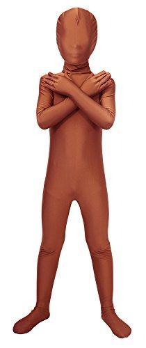 Sheface Kids Spandex Full Bodysuit Fancy Dress Costume (Medium, Brown)]()