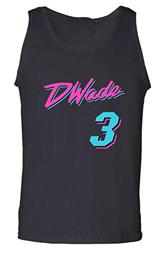 Jersey Wade D (The Tune Guys Black Miami Wade Vice City Tank Top Adult)