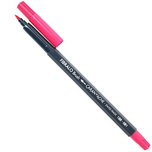 Caneta Caran D´Ache Aquarelável Fibralo Brush Rosa 081
