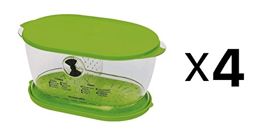 Progressive Lettuce Keeper Colander Fruit/Veggie/Salad Dishwasher Safe (4-Pack) ()