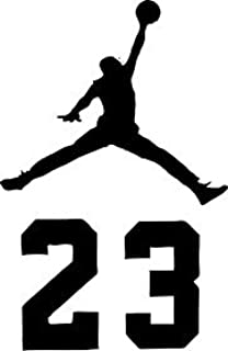 new styles a3e60 6cc94 NBA Jordan 23 Jumpman Logo AIR Huge Vinyl Decal Sticker for Wall Car Room  Windows (