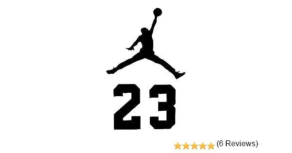 Amazon nba jordan 23 jumpman logo air huge vinyl decal amazon nba jordan 23 jumpman logo air huge vinyl decal sticker for wall car room windows 11 inches white voltagebd Choice Image