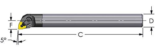 "Ultra-Dex E16R MWLNL3 Carbide Boring Bar to Hold a Negative WNMG 332 at -5 Degree Lead, Left Hand, Coolant Thru, 1.000"" x 8"", 1.200"" Minimum Bore Review"