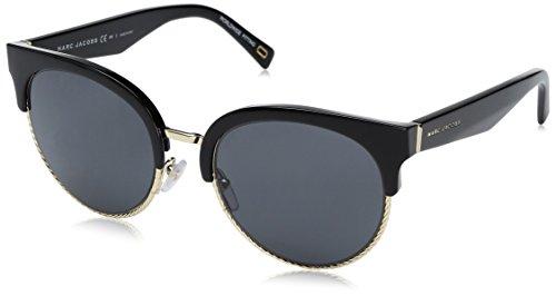 Marc Jacobs Women's Marc170s Round Sunglasses, Black/Gray Blue, 54 mm