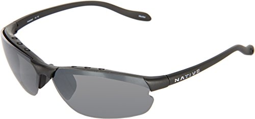 Native Eyewear Dash XP Sunglasses, Charcoal with Silver Reflex (Gray) Lens -