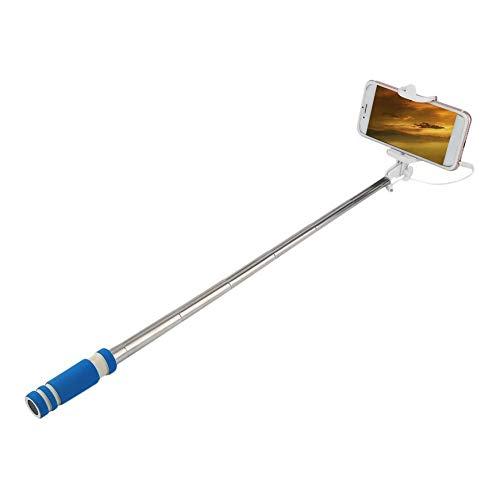 Pudincoco Acero Inoxidable Colorido 14-60 cm Mini Extensible Handheld Stick Selfie Atado con Alambre Obturador Remoto Monopod para Todas Las Marcas Tel/éfono Celular Naranja
