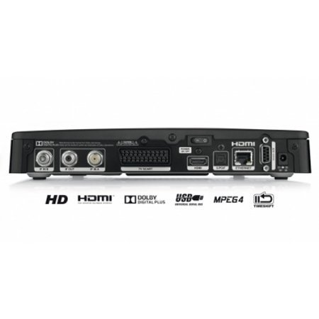 Tivusat HD twin tuner decoder and smart card USB PVR ready
