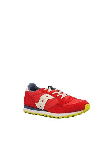 SAUCONY - Zapatilla deportiva gris con cordones, en gamuza y sintético, colorida, cómoda y de moda, Unisex-niños, niña Rojo