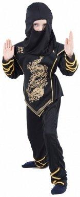 Disfraz negro y dorado de ninja para niño: Amazon.es ...