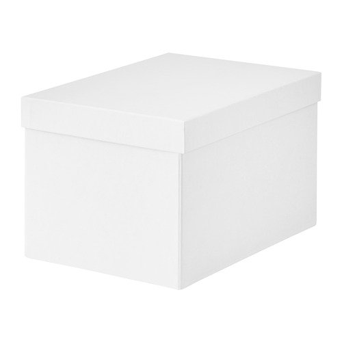 IKEA Tjena Storage Box With Lid White 103.954.21 Size 7x9 ¾x6 (Tjena Storage Box)