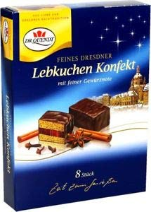Dr Quendt KONFEKT Gingerbread Dominos chocolate covered blocks w/cherry jelly 130g