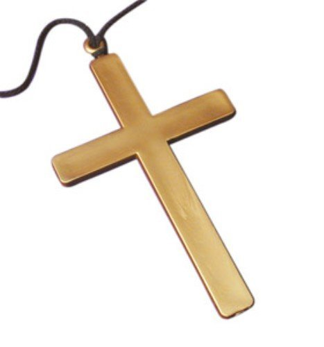 Large Gold Cross for Crucifix Nun Priest Fancy Dress Accessory by Partypackage Ltd