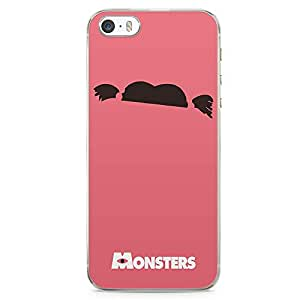 Loud Universe Monster Inc iPhone SE Case Boo Monsters Pink iPhone SE Cover with Transparent Edges