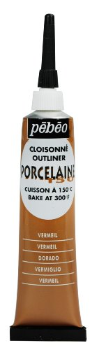 Pebeo Porcelaine 150, China Paint Outliner, 20 ml Tube - Vermeil Gold