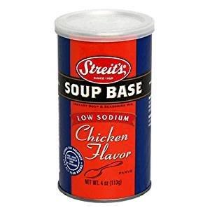 - Streit's Soup Base Low Sodium Chicken Flavor 4 Oz. Pack Of 3.
