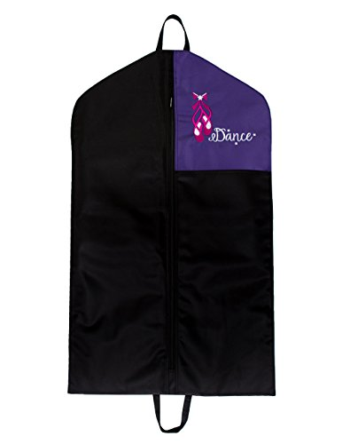 [Horizon Dance 2407 Dolce Embroidered Garment Bag - Purple] (Canada Dance Costumes)