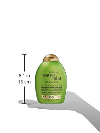 OGX Shampoo, Hydrating TeaTree Mint, 13oz - Pack of 4