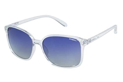 O'Neill Women's Praia Polarized Square Sunglasses, Matte Crystal, 57 ()