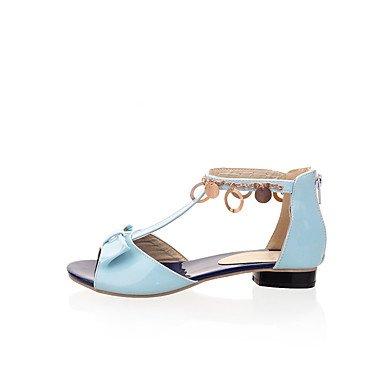LvYuan Mujer Sandalias Zapatos formales Semicuero Primavera Verano Casual Vestido Fiesta y Noche Zapatos formales Tacón Plano Beige Rojo Azul12 ruby
