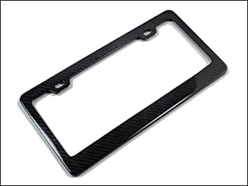 genuine carbon fiber license plate frame