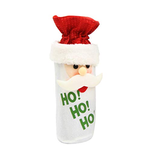 Ktyssp Wine Bottle Cover Snowman Stocking Bags Xmas Sack Packing Present -