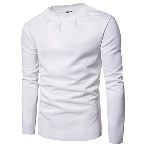 Los Blanco De Sudadera Top Sweater Manga Hombres Jumper Solid Soft Camisa La Blusa Para Hombre Pullover Slim Larga Camiseta Joven Capucha Con Delgados Softshell gt6qdxYp