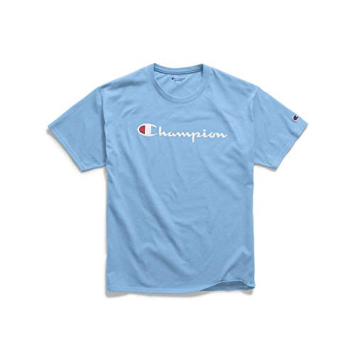 Champion Men's Classic Jersey Graphic T-Shirt, Swiss Blue, X-Large ()