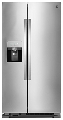 Price comparison product image Kenmore 51335 25 cu. ft. Side-by-Side Fingerprint Resistant Refrigerator with SpaceSaver in Stainless Steel,  includes delivery and hookup