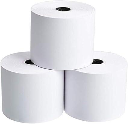 2 Rolls White 2-1//4 x 150 ft Adding Machine//Calculator Roll