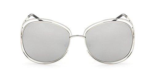 lunettes Mercure du Blanc en retro soleil style inspirées Lennon métallique rond cercle vintage de polarisées rqOwrf