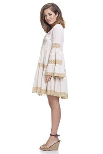 Peace Calao By crudo Mujer Vestido Para Aa Marfil amp;love rEq50r