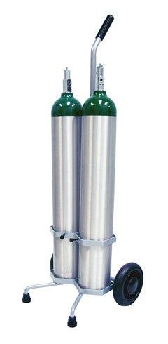 2 Cylinder D / E Oxygen Cylinder Cart