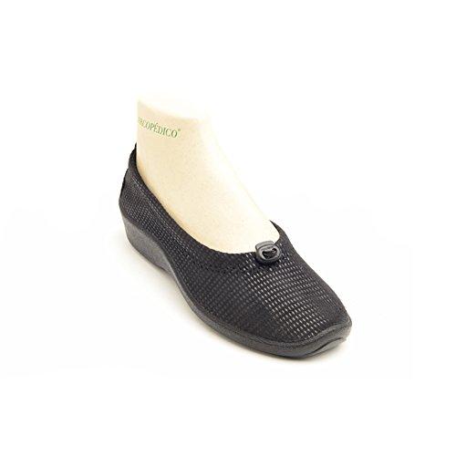 Arcopedico 4231 L14 Womens Flats Shoes, Lagrimas Black, Size - 42