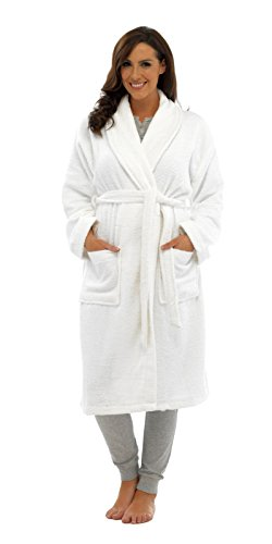 Womans Luxury Towelling Dressing Gown Bathrobe