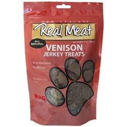 (THE REAL MEAT COMPANY 828017 Dog Jerky Venison Treat, 4-Ounce)