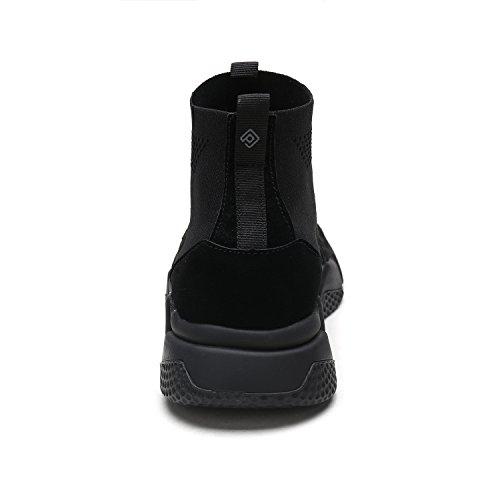 DREAM PAIRS Neue Mode Damen Lady Easy Walk Slip-On Leichte Freizeit Comfort Loafer Schuhe Turnschuhe 170844-alles Schwarz