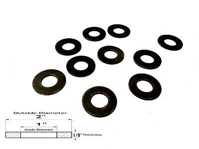 Lot of 10 Neoprene Rubber Washers 2 OD X 1 ID X 1//8 Thickness
