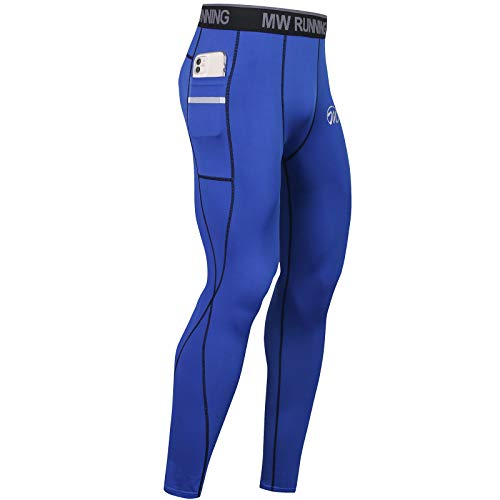 MEETWEE compressiebroek heren, lange en 3/4 hardloopbroek ademend functionele onderbroek tights onderbroek
