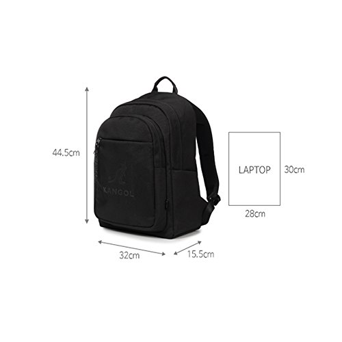 Amazon.com  KANGOL Switch Backpack 1309 Laptop Backpack Unisex for School  Work Travel Camping (Black)  Clothing 2179311df742f