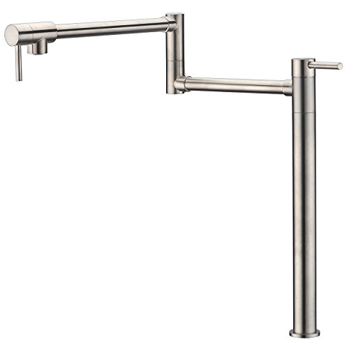 """Sumerain Pot Filler Deck Mount,Brushed Nickel Finish with Extension Shank and 20"""" Dual Swing Joints Spout -  S6115N"""