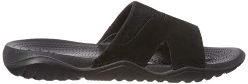 Aperta Swiftwater Uomo 060 Sandali Crocs black A Slide M Leather Nero Punta black qWwggCd0x