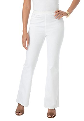 Jessica London Women's Plus Size Bootcut Stretch Denim Jeggings White Twill,24