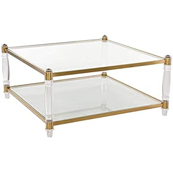 Amazon.com: Safavieh Couture Collection Isabelle Bronze Acrylic Coffee Table: Kitchen & Dining