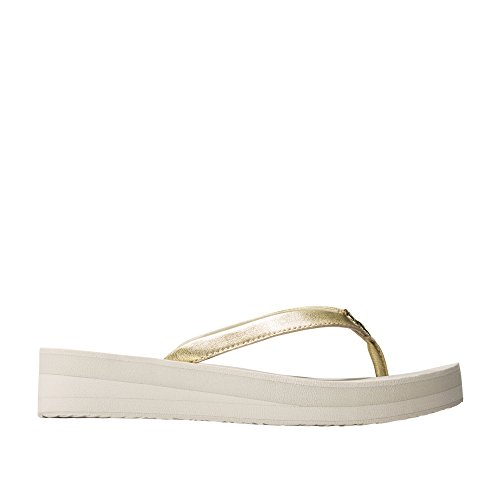 Cole Haan Flip Flops - Cole Haan Women's Pinch Lobster Flipflop Flip-Flop, Ch Gold Leather/Pumice Stone, 6 B US