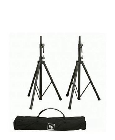 Electro Voice TSP 1 Aluminum Tripod Speaker Stand Pair With Carry Bag by Electro-Voice