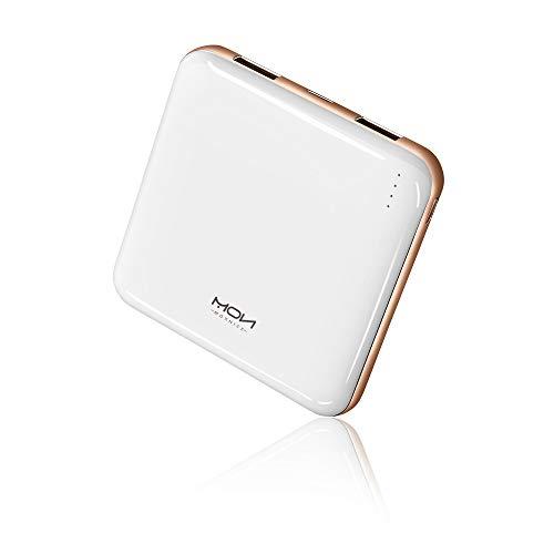 MOXNICE Powerbank 10000mAh Power Bank, Superlichte Slanke Externe Batterij met 2 Uitgangen voor iPhone, iPad, Samsung…